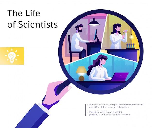 Composición abstracta de la vida de la ciencia