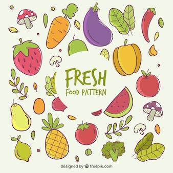 Composición adorable de comida orgánica