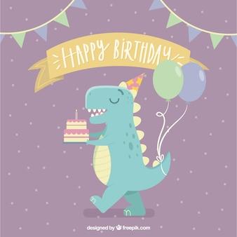 Composición adorable de cumpleaños