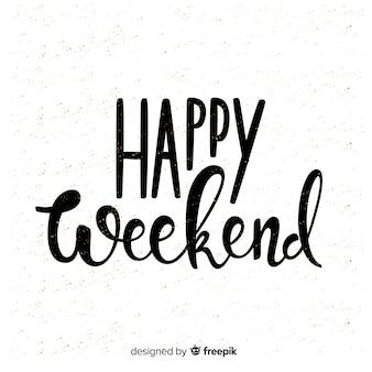 Composición adorable de feliz fin de semana