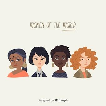 Composición adorable de feminismo