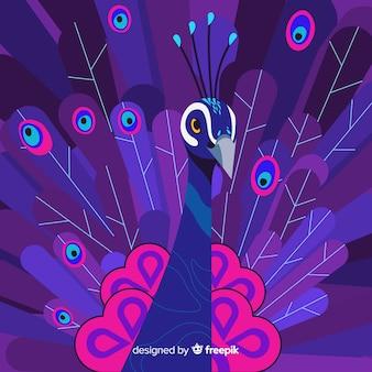 Composición adorable de pavo real