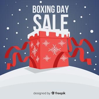 Composición adorable de rebajas de boxing day