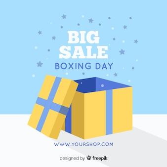 Composición adorable de rebajas del boxing day