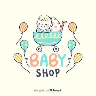 Composición adorable de tienda de bebés