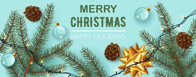 Composición de adornos navideños