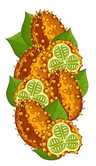 Composición aislada de cuernos de melón.