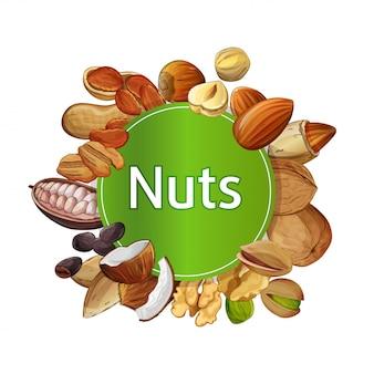 Composición aislada ronda varios frutos secos