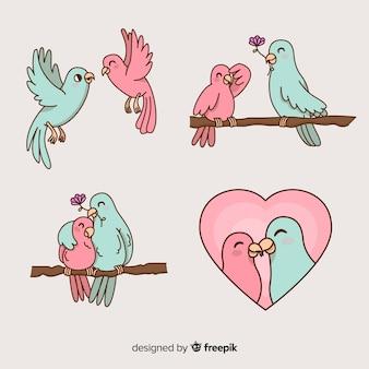 Composición de amor dibujada a mano