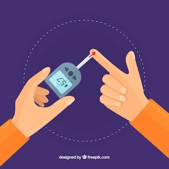 Composición de análisis de sangre para diábeticos con diseño plano