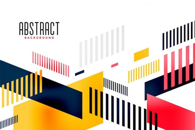 Composición de la bandera de moda moderna colorida brillante abstracta
