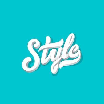 Composición caligráfica de letras de estilo