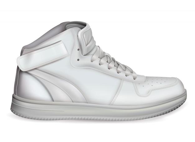 Composición de calzado deportivo realista