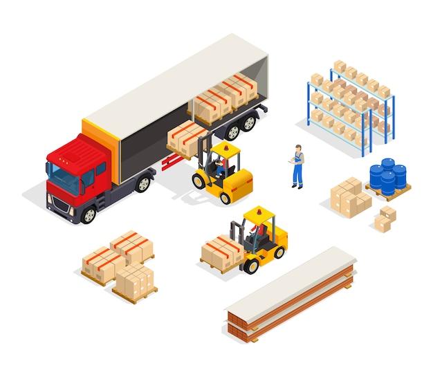 Composición de carga vehicular de almacén