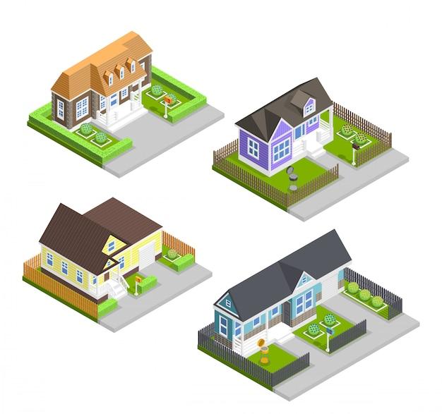 Composición de casas de pueblo