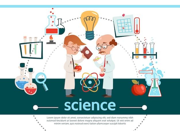Composición de ciencia plana