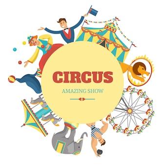 Composición de circo redondo