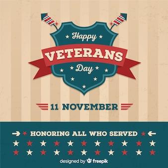 Composición clásica del día de los veteranos con diseño vintage
