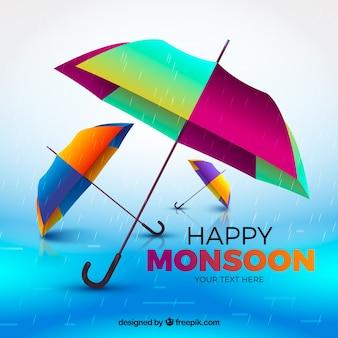 Composición clásica de la época del monzón con diseño realista