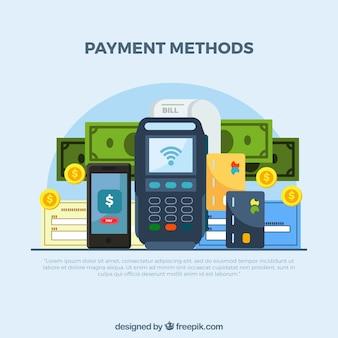 Composición clásica con métodos de pago