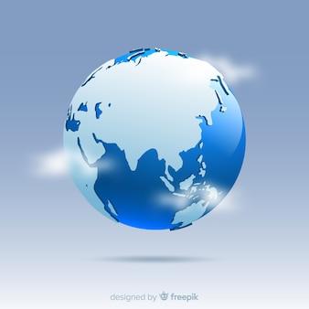 Composición clásica del planeta tierra con estilo de degradado