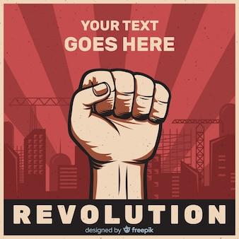 Composición clásica de revolución con diseño plano