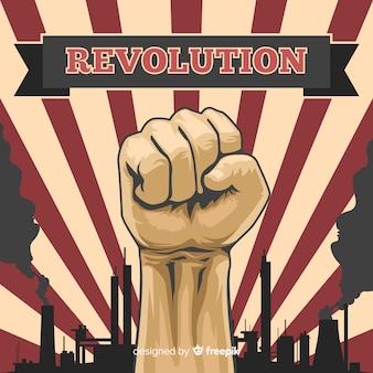 Composición clásica de revolución con estilo vintage