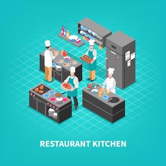 Composición de la cocina del patio de comidas