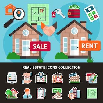 Composición coloreada inmobiliaria
