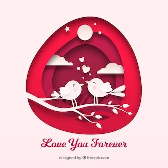 Composición colorida de amor con diseño plano