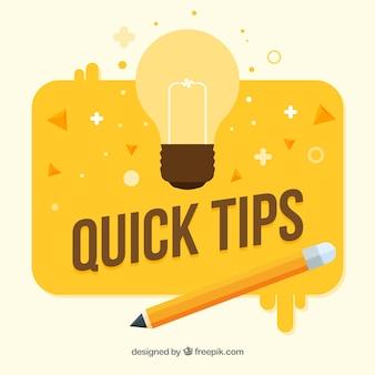 Composición colorida de consejos con diseño plano