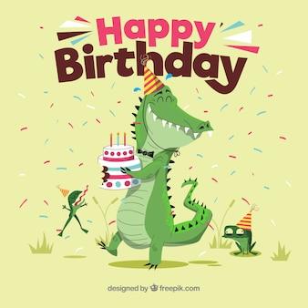Composición colorida de cumpleaños con estilo adorable