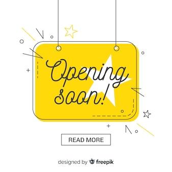 Composición colorida de inauguración con diseño plano