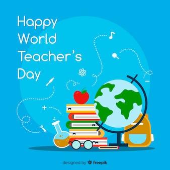 Composición concepto día internacional del maestro