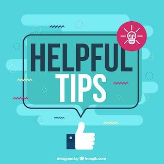 Composición de consejo útil con diseño plano