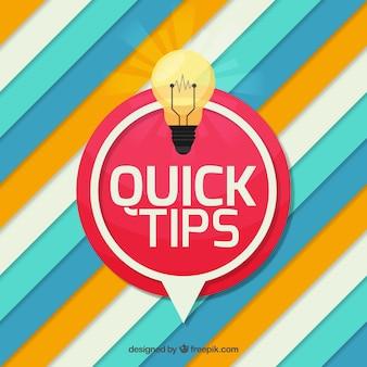 Composición de consejos rápidos con diseño plano