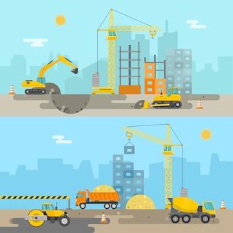Composición de construcción de viviendas