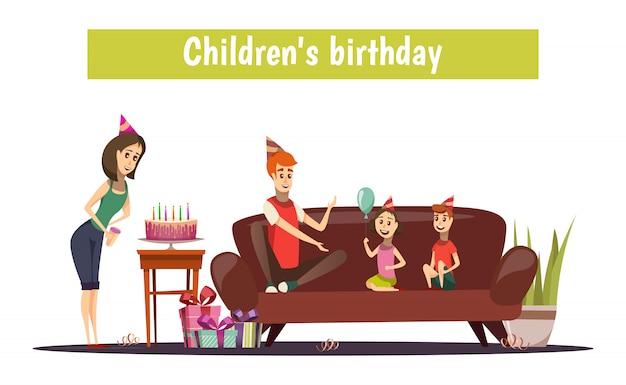 Composición de cumpleaños de los niños