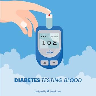 Composición de análisis de sangre para diabéticos con diseño plano