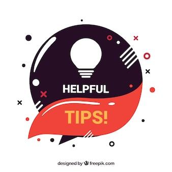 Composición de consejos útiles con bombilla
