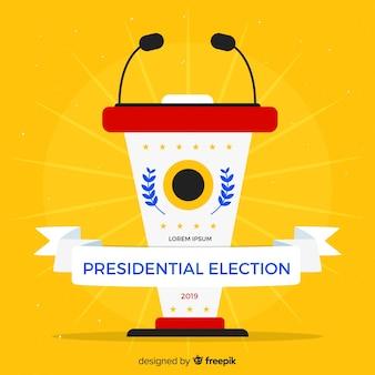 Composición de elecciones presidenciales con diseño plano