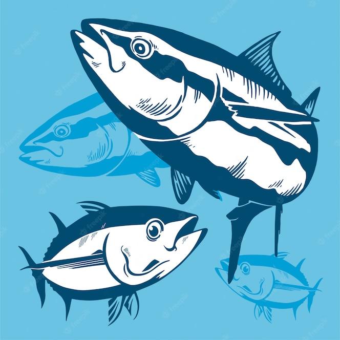 Composición de símbolo de atún