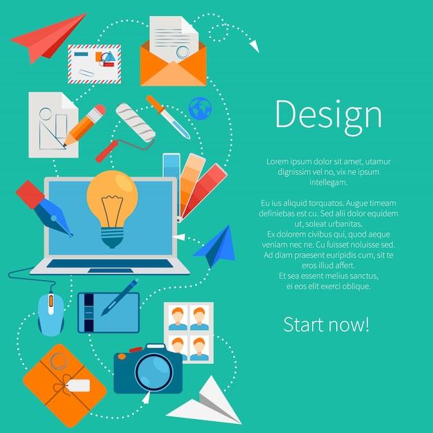 Composición de desarrollo de diseño