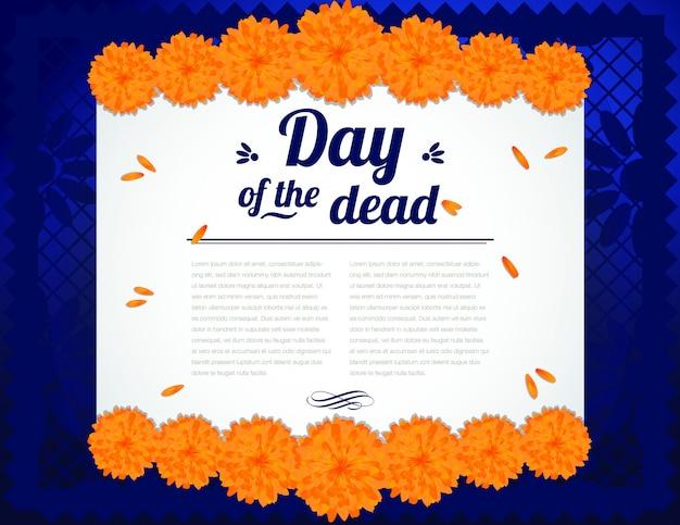Composición del día de la muerte - espacio de copia