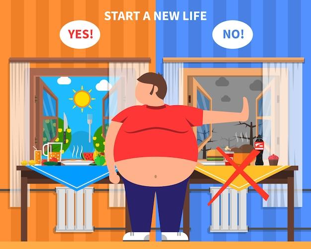 Composición de diseño de la obesidad