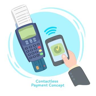 Composición divertida de pago contactless