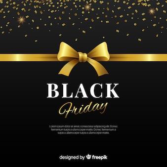 Composición elegante de black friday con estilo dorado
