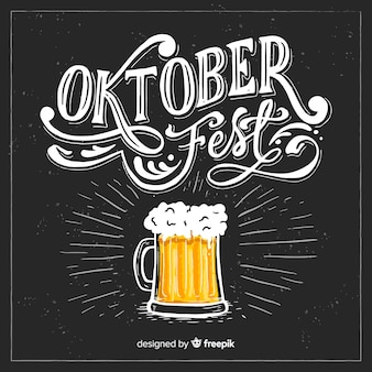Composición elegante de oktoberfest dibujada a mano