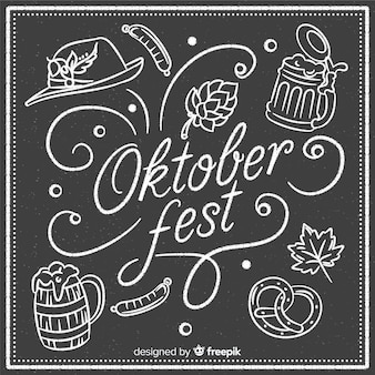 Composición elegante de oktoberfest con estilo de pizarra