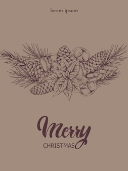 Composición de estilo boceto de navidad
